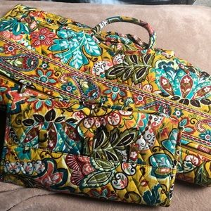 Matching Garment bag and jewelry bag.